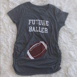 Motherhood Maternity Football T-shirt